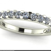 Style B101 :: Classic Shared Prong Diamond Band