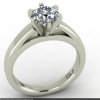 Style E301 :: Classic Cathedral Solitaire Engagement Ring
