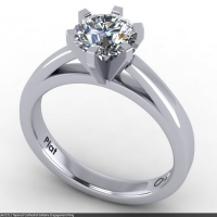 Style E311 :: Tapered Cathedral Solitaire Engagement Ring