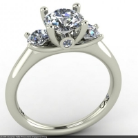 Style E801 :: Surprise Trellis Three-stone Engagement Ring
