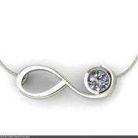 Style P401 :: infinity Diamond Pendant