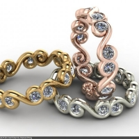 Style R201 :: Swirl Diamond Eternity Ring