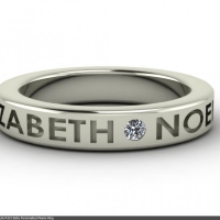 Style R501 :: Baby Personalized Name Ring