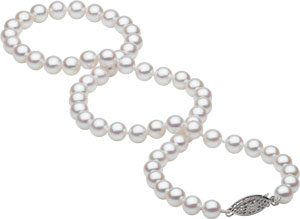 Cultured Pearls Double Twist Necklace